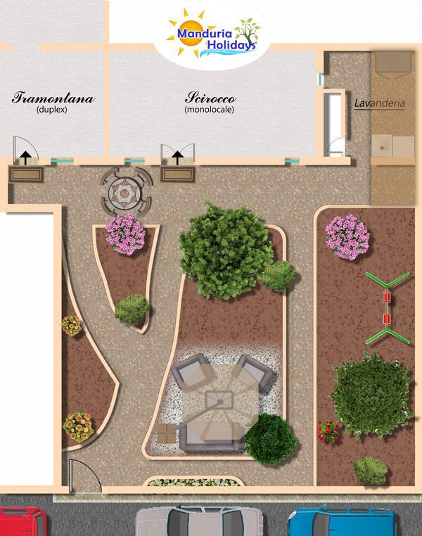 Ferienapartments apulien ferienwohnungen manduria for Planimetria giardino